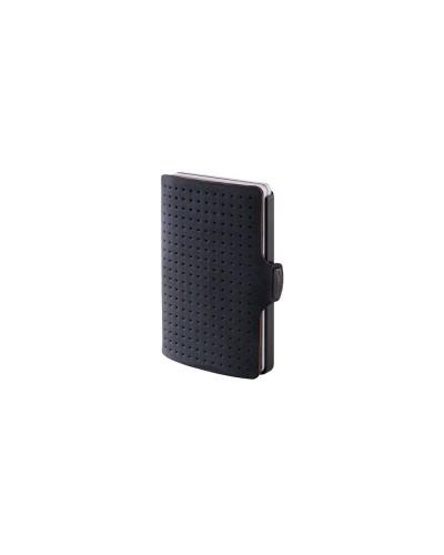 Portafoglio I Clip advantager in plastica high-tech nera e pelle nera