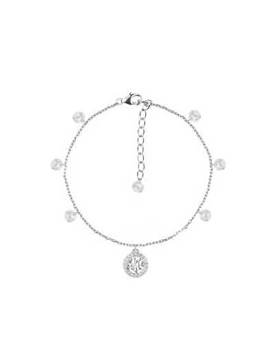 Bracciale Feelings 4mm brio+charms tree life 16 wh/rh 925 silver