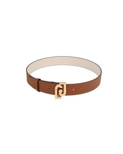 Cintura Liu Jo donna 4cm con fibbia logata color cervo