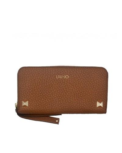 Portafoglio Liu Jo donna con zip e borchie nero