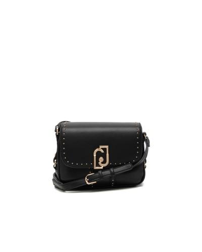 Borsa Donna  Lui Jo nero a tracolla borchie applicate chiusura con bottone magnetico