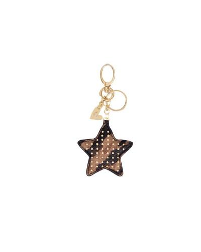 Portachiavi Liu Jo Donna a forma di stella chiusura con moschettone color zebrato cammello