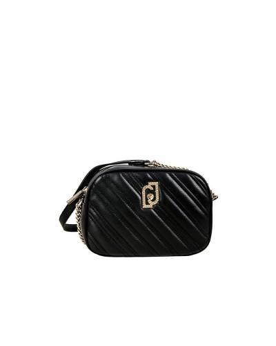 Tracolla  Liujo Donna nero realizzata in similpelle effetto nappa trapuntata con ampio scomparto chiuso con zip.
