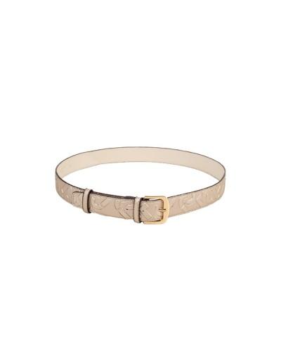 Cintura liu Jo donna con stampa  con logo monogram e chiusura con fibbia metallica taglia unica tortora