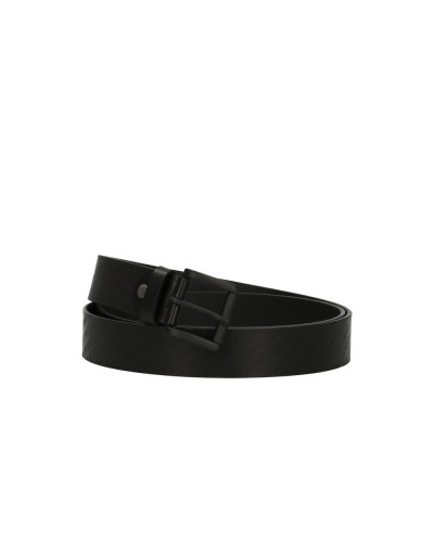 Cintura Trussardi uomo nera con logo stampato