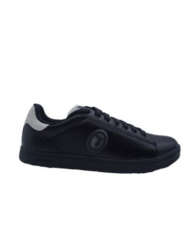 Scarpe Sneakers Trussardi uomo in ecopelle nera e bianca