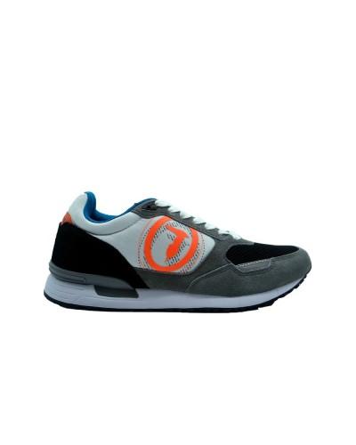 Scarpe Sneakers Trussardi uomo con maxi logo in tessuto multicolor