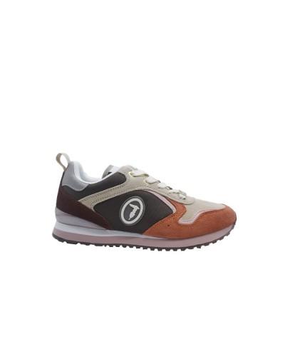 Scarpe Sneakers Trussardi donna bassa multicolor con logo in rilievo