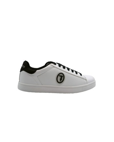 Scarpe Sneakers Trussardi uomo in ecopelle bianca e nera
