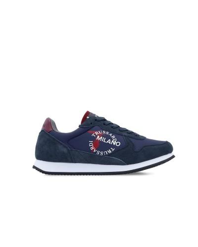 Scarpa Sneakers Trussardi uomo bicolor blu e bordeaux