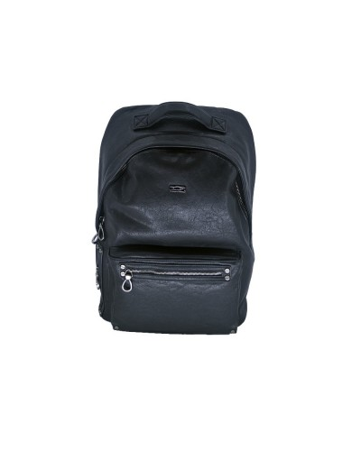 Zaino Cult uomo con zip nero 100% pu leather