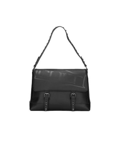 Borsa Cult a spalla con borchie sul manico e chiusura con fibbie a calamita 100% pu leather
