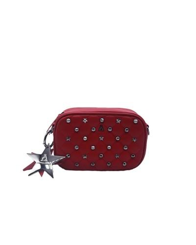 Borsa Tracollina L'atelier Du Sac con borchie applicate in similpelle rossa