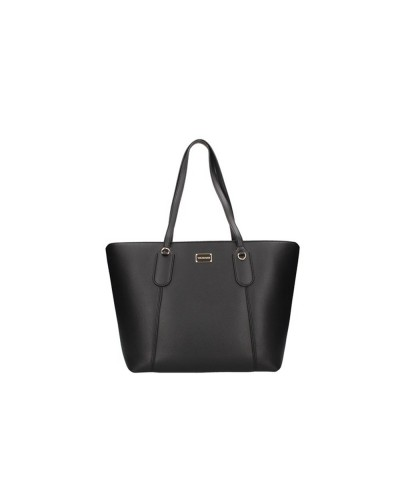 Borsa shopping Trussardi piccola in ecopelle nero