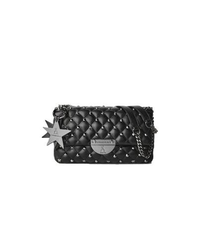 Borsa Tracolla L'Atelier Du Sac con borchie applicate pashimina omaggio in similpelle nera