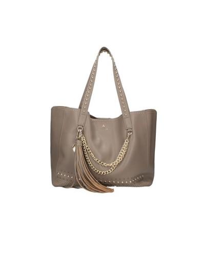 Borsa Shopping L'Atelier Du Sac con borchie applicate tracolla in dotazione pashimina in omaggio in similpelle grigia