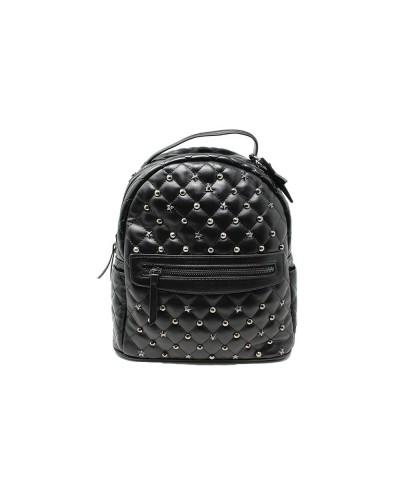 Zaino L'Atelier Du Sac con borchie applicate pashimina omaggio in similpelle nera