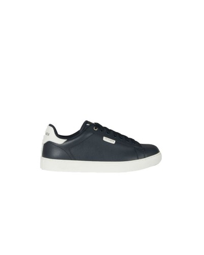 Scarpe Sneakers Trussardi uomo fondo a cassetta in  pelle blu e bianco