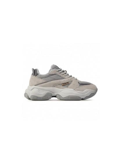 Scarpe Sneakers Trussardi uomo in pelle scamosciata grigia