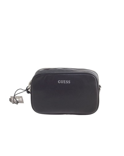 Pochette Guess uomo in similpelle nera