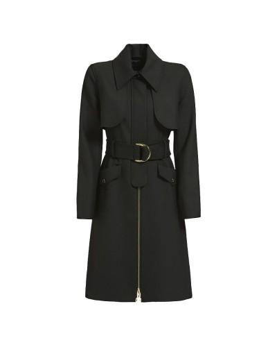 Cappotto Guess Marciano donna con chiusura zip frontale e cintura in vita