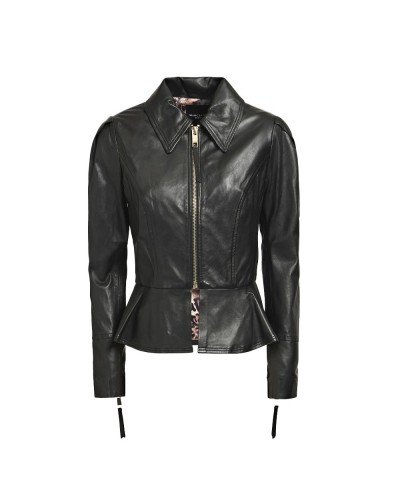 Giacca Guess Marciano donna in pelle con chiusura zip centrale