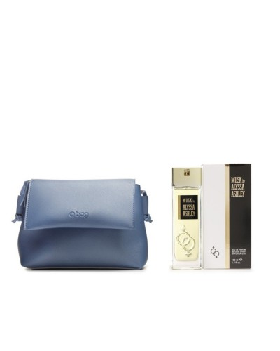 Cofanetto Alyssa Ashley Musk con profumo  eau de parfum 50 ml, e mini bag O-BAG blu