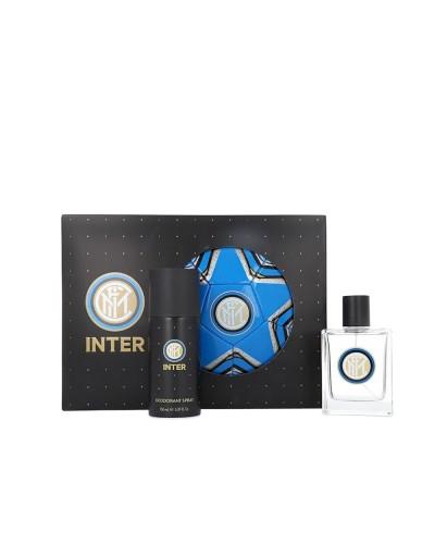 Cofanetto Inter con profumo eau de toilette 100 ml, deodorante spray 150 ml e pallone ufficiale