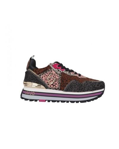 Scarpe Sneakers Liu jo maxi wonder animalier multicolor