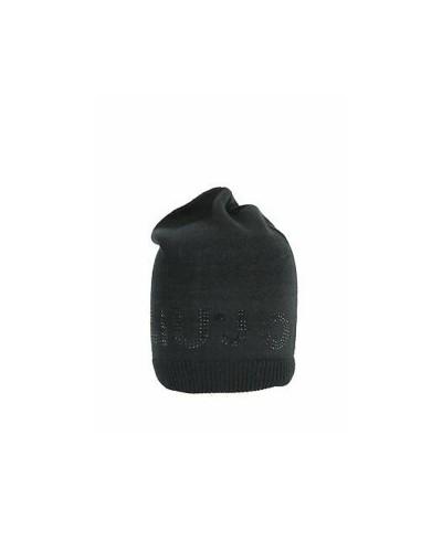 Cappello Liu Jo donna con logo di strass color nero