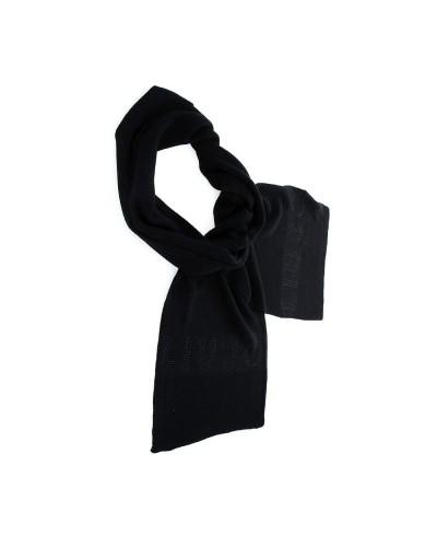 Sciarpa Liu Jo donna realizzata in maglia con morbidi intrecci e logo impreziosito da strass color nero