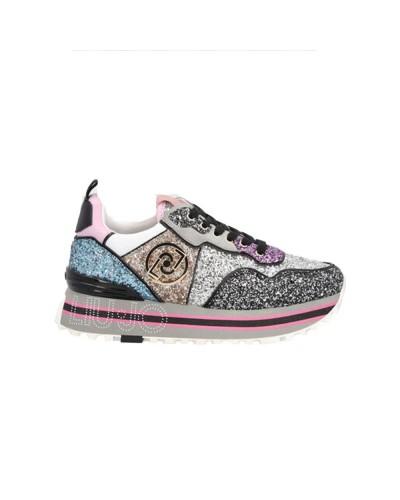 Scarpe Sneakers Liu Jo maxi wonder donna glitterate multicolor