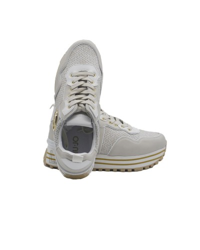 Scarpe Sneakers Liu Jo maxi wonder donna in ecopelle logato  milk