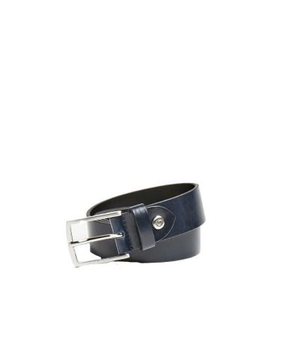 Cintura Guess Uomo in pelle con fibbia in acciaio satinato alta 3 cm