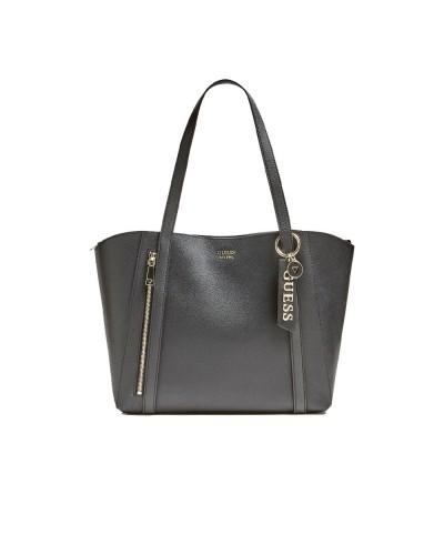 Borsa Shopping Guess donna con cerniera frontale e pochette interna nera