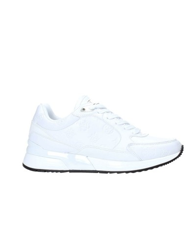 Scarpa Sneakers Guess donna bianca punta tonda e logo frontale