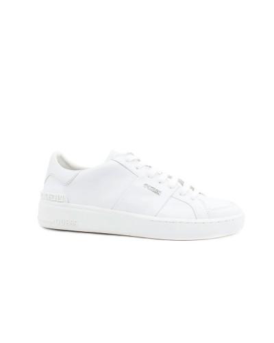 Scarpa Sneakers Guess uomo bianche con stampa logata laterale