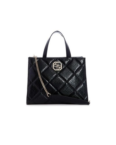 Borsa A  Mano Guess Donna logata in materiale trapuntato nero