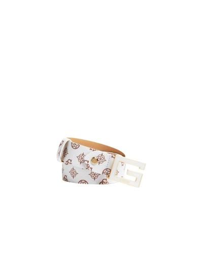 Cintura Guess Donna  in effetto spalmato fibbia color oro pallido chiusura logata a incastro