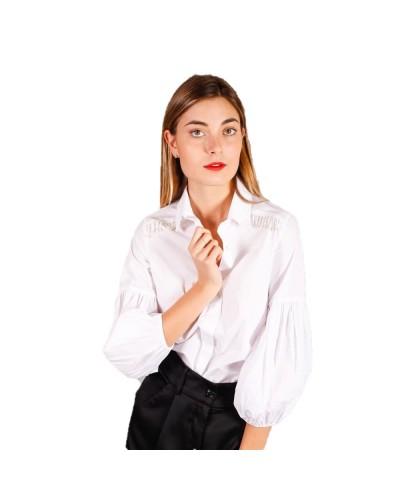Camicia Mimì muà donna con maniche bombate