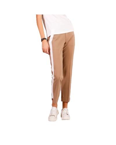 Pantalone Mimì Muà donna in tessuto tecnico con righe laterali