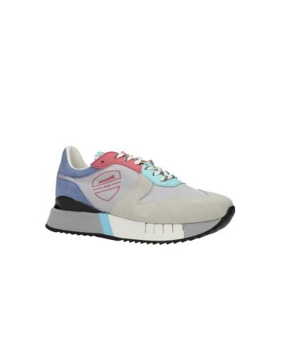 Scarpe Sneakers Blauer donna stile running scamosciate e nylon