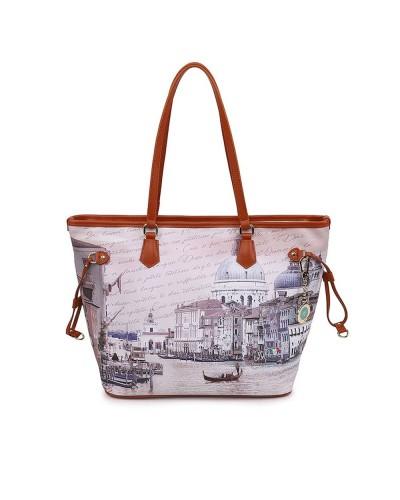 Borsa Shopping Ynot donna grande raffigurante canal grande di Venezia