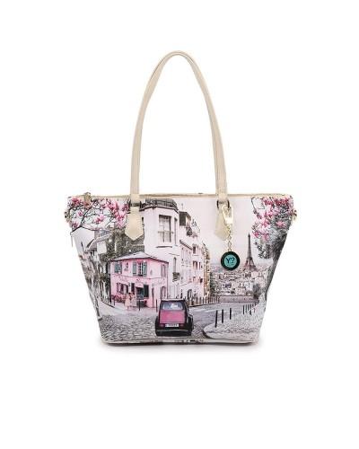 Borsa Shopping Ynot donna media con tracolla raffigurante Parigi