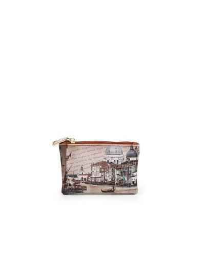Pochette Ynot donna piccola con cerniera raffigurante il canal grande di Venezia