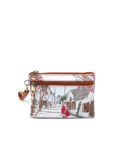 Bustina Ynot donna piccola con polsiera raffigurante Alberobello