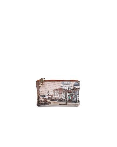 Portachiavi Ynot donna con cerniera raffigurante il canal grande di Venezia