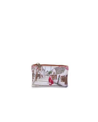 Portachiavi Ynot donna con cerniera raffigurante Alberobello
