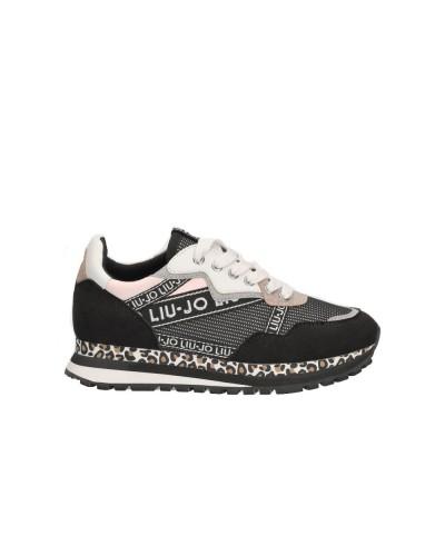 Scarpe Sneakers Liu Jo bambina con glitter e animalier