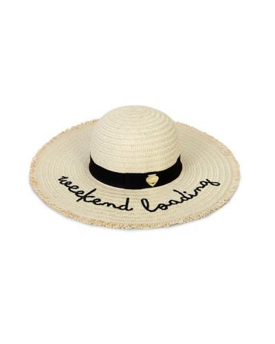 Cappello Le Pandorine in paglia con frase stampata